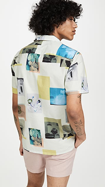 Club Monaco Floral Photograph Shirt