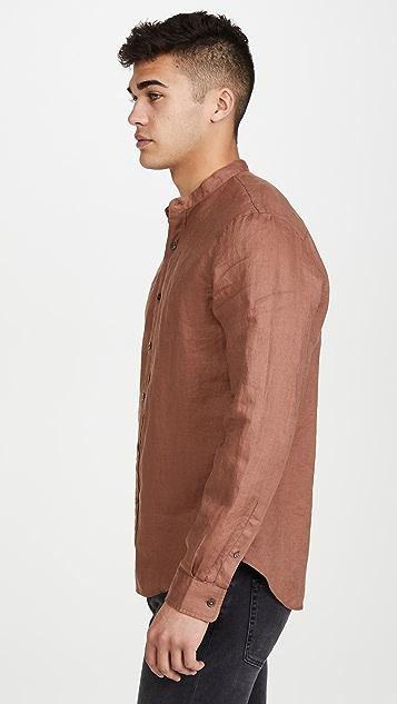 Club Monaco Linen Solid Shirt