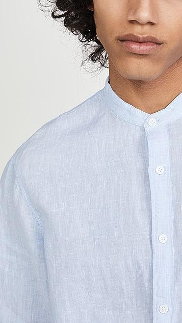 Club Monaco Linen End on End Shirt