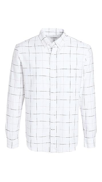 Club Monaco Standard Windowpane Shirt