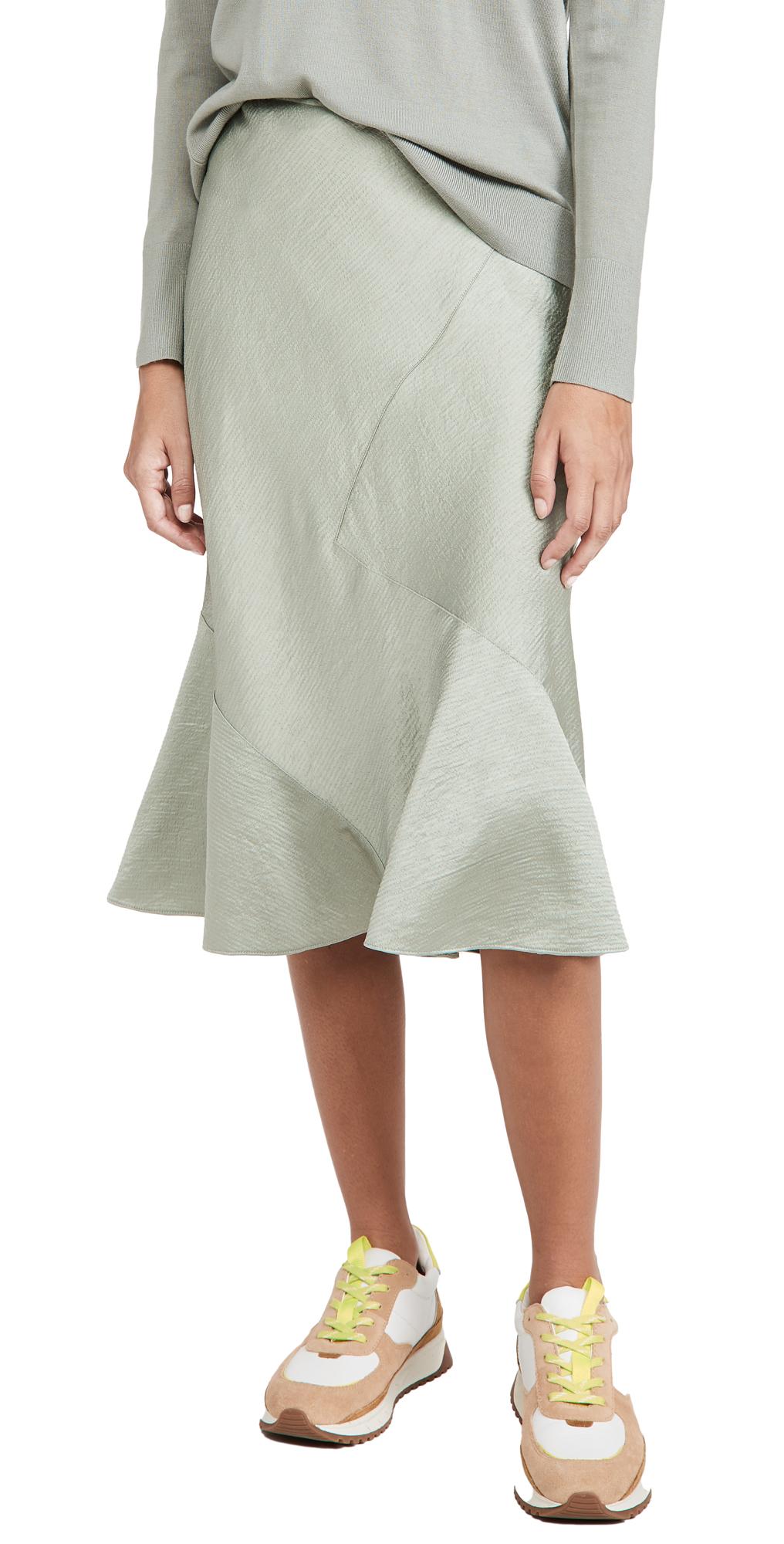 Club Monaco Seamed Slip Skirt