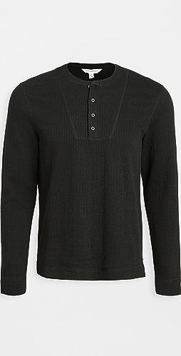 Club Monaco - Double Knit Long Sleeve Henley
