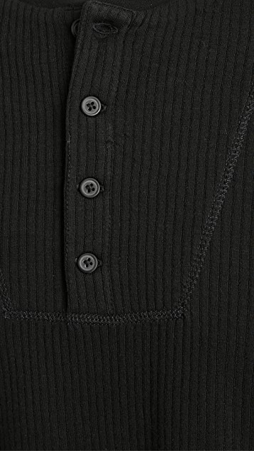 Club Monaco Double Knit Long Sleeve Henley