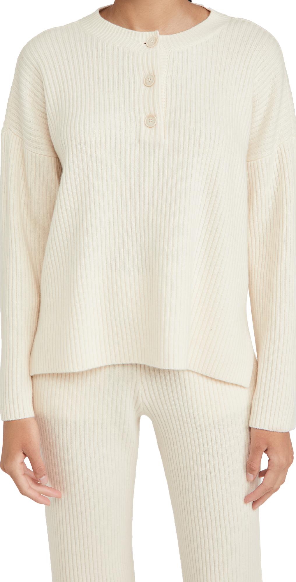Club Monaco Ribbed Henley Sweater