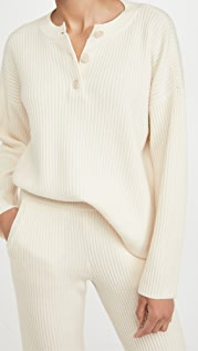 Club Monaco Ribbed Henley Sweater