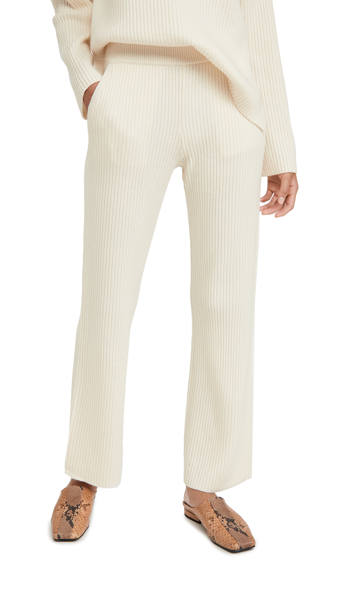 Club Monaco Cashmere Blend Ribbed Pants
