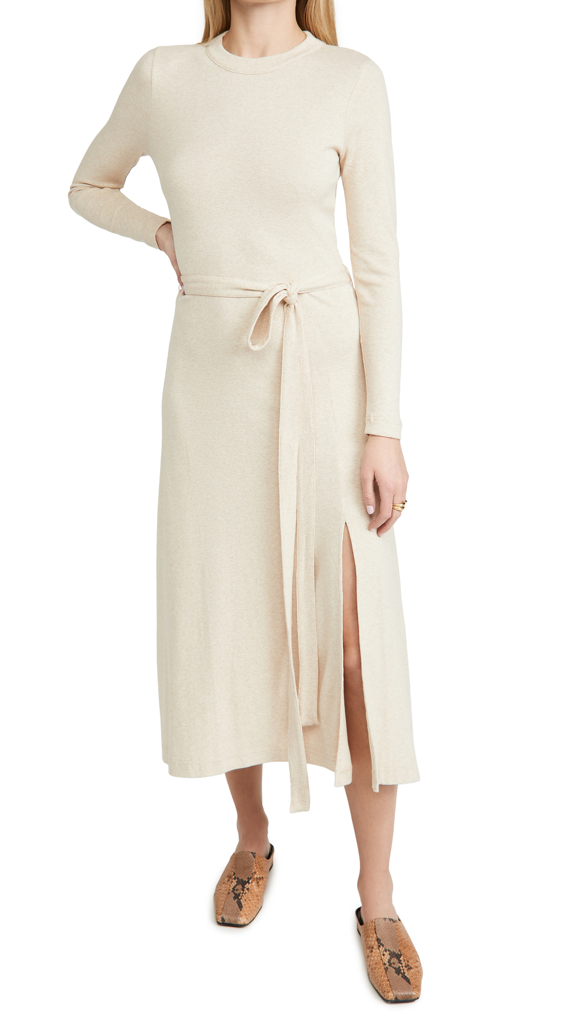 Club Monaco Long Sleeve Rib Dress
