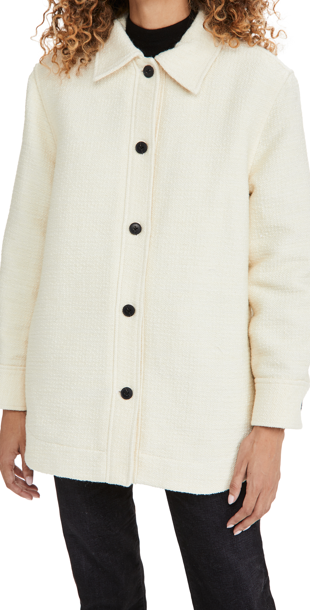 Club Monaco Mixed Media Quilted Jacket