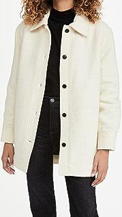 Club Monaco 混合材质绗缝夹克