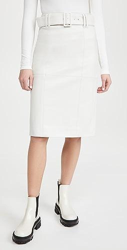 Club Monaco - Faux Leather Skirt