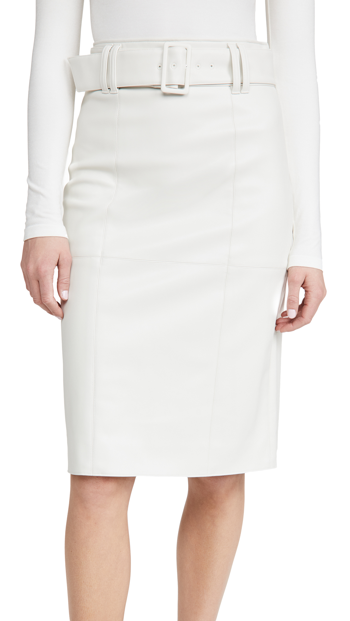 Club Monaco Faux Leather Skirt