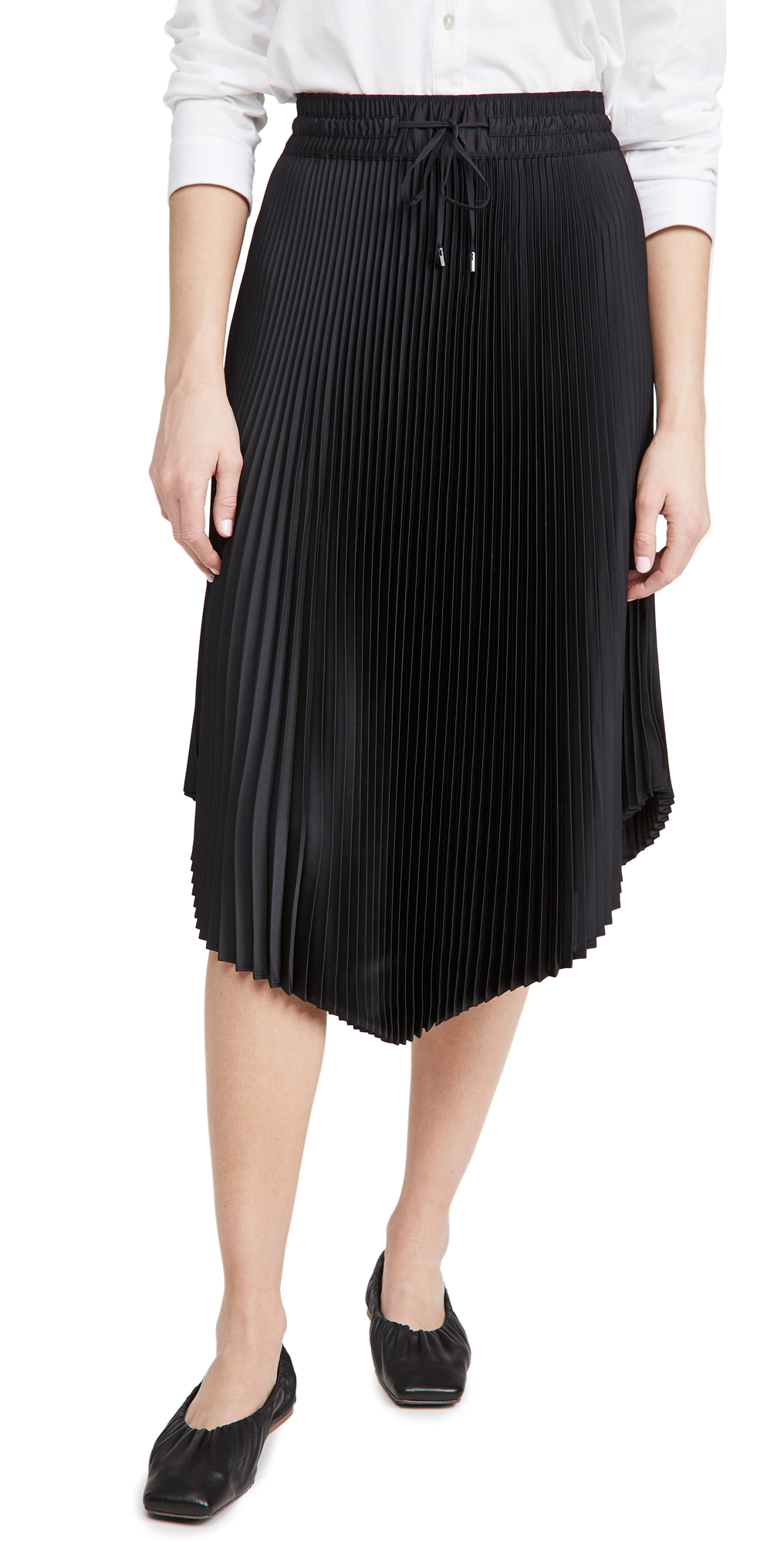 Club Monaco Pleated Scoop Hem Skirt