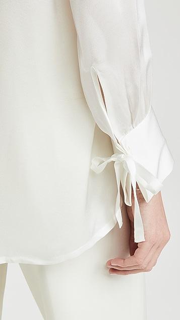 Club Monaco 抽褶绑带女式衬衫