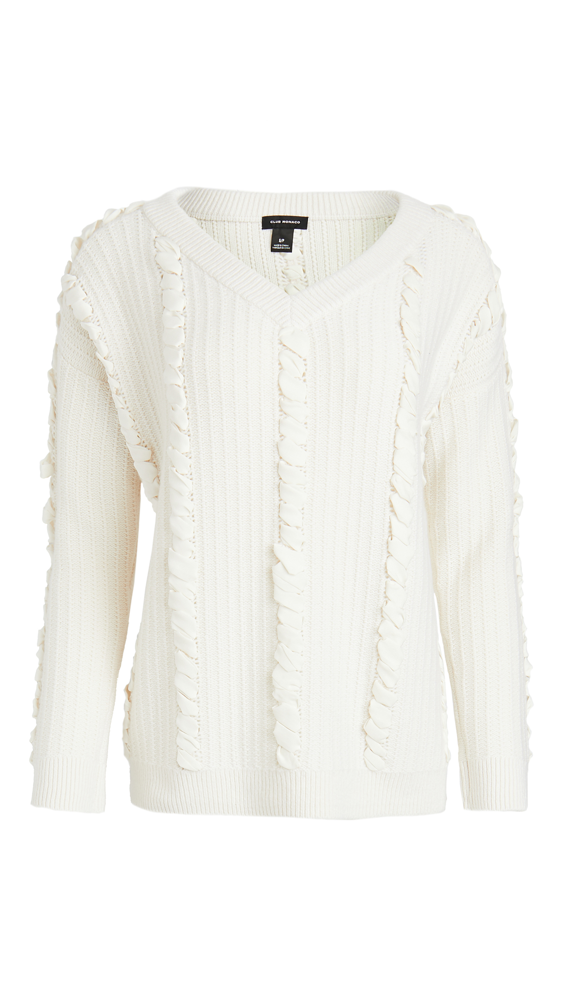 Club Monaco Woven Detail Sweater