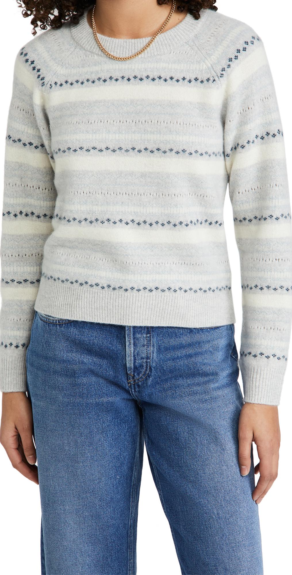 Club Monaco Boiled Cashmere Fair Isle Sweater