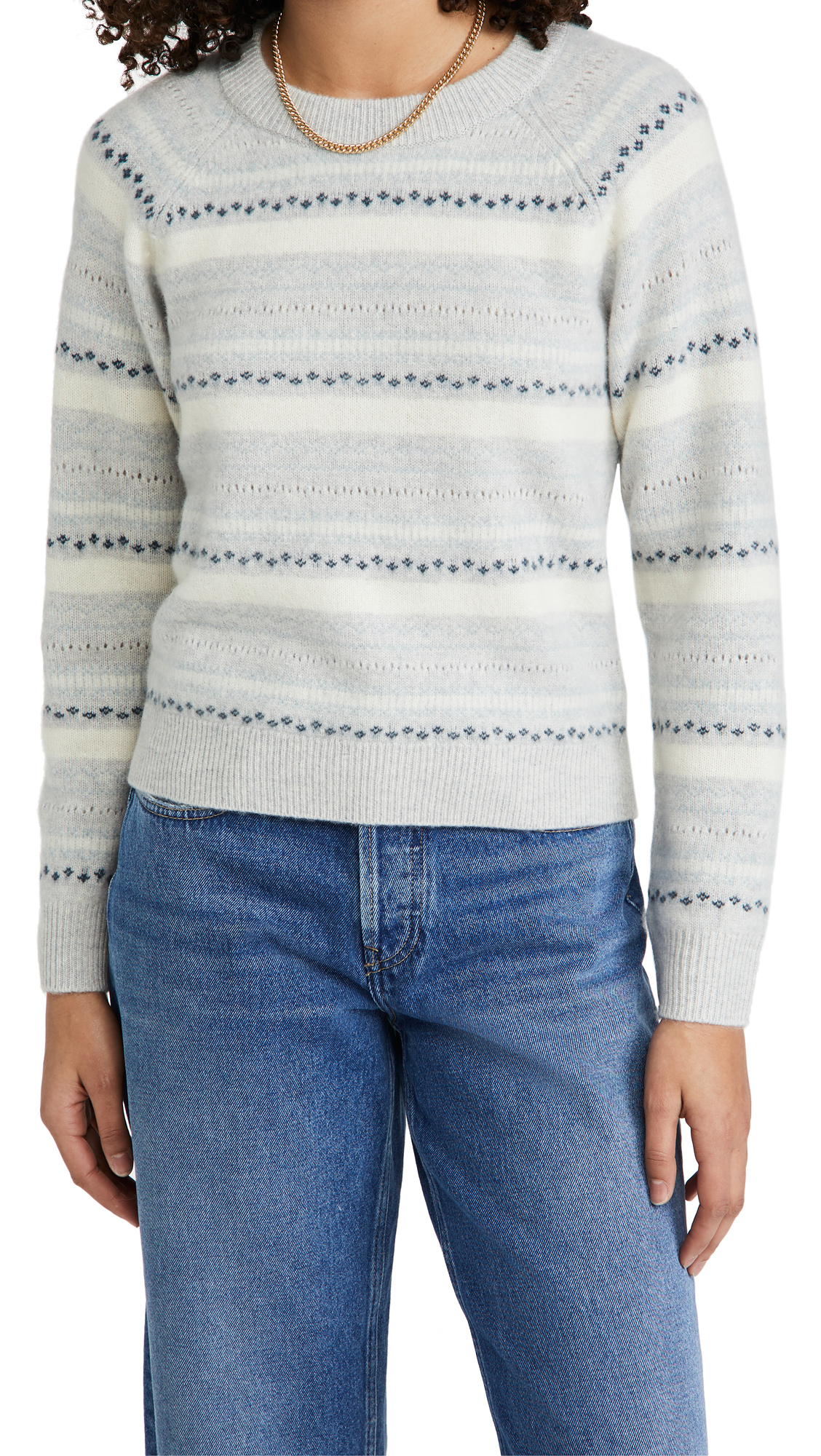 Club Monaco BOILED CASHMERE FAIR ISLE SWEATER
