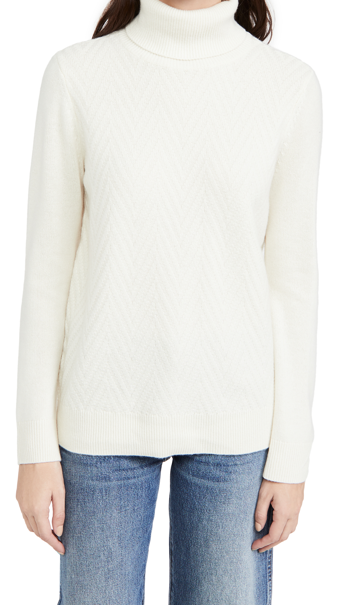 Club Monaco Cashmeres MIXED STITCH TURTLENECK SWEATER
