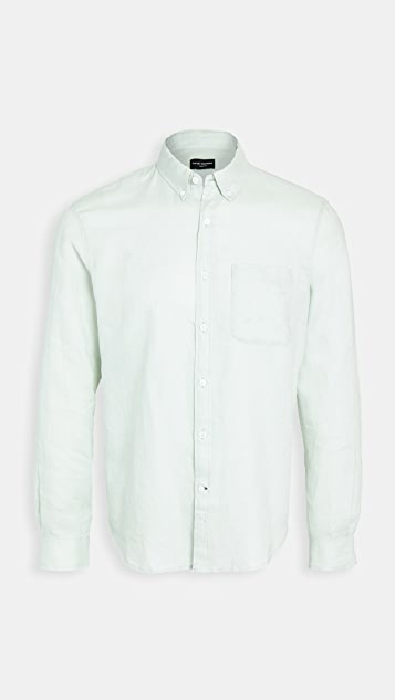 Club Monaco Bd Solid Linen Shirt