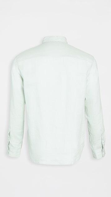 Club Monaco Bd Solid Linen Shirt