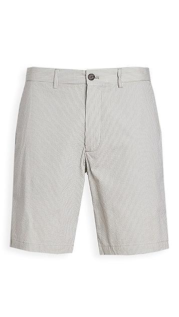 Club Monaco Maddox Seersucker Shorts