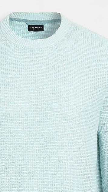 Club Monaco Cashmere Summer Mesh Crew Sweater
