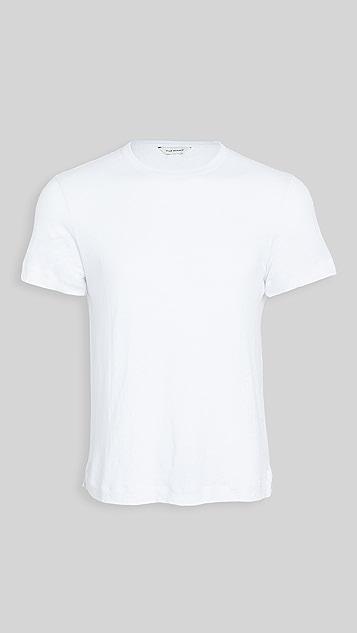 Club Monaco Short Sleeve Linen Crew Tee