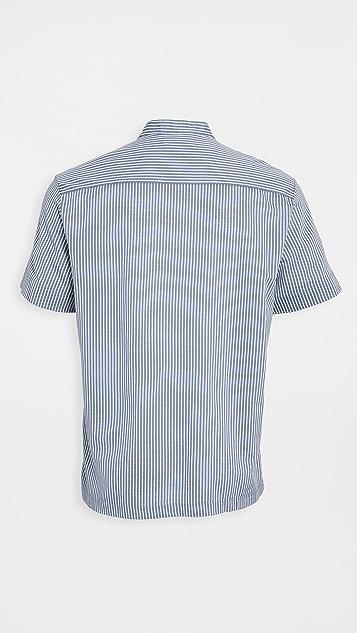 Club Monaco Striped Knit Popover Tee