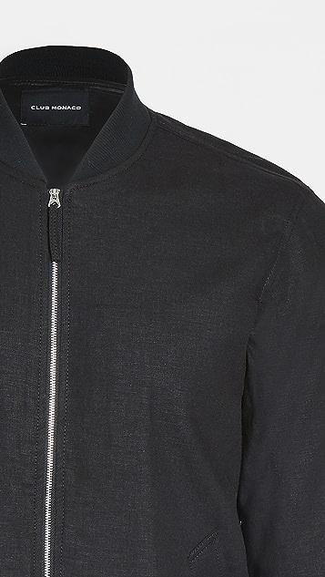 Club Monaco Summer Linen Bomber Jacket