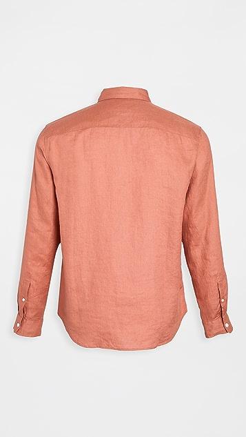 Club Monaco Solid Linen Shirt