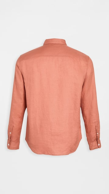 Club Monaco Solid Linen Shirt