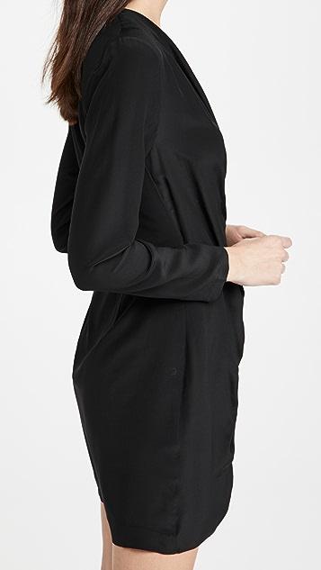 Club Monaco Side Drape Mini Dress