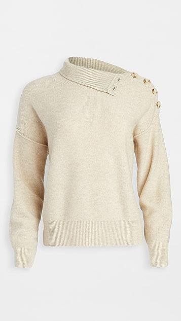 Club Monaco Button Neck Cashmere Sweater