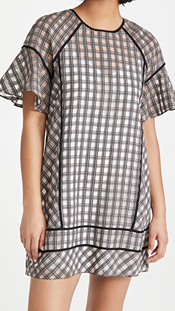 Club Monaco Check Swing Dress