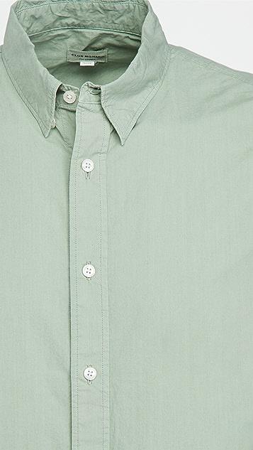 Club Monaco Tea Dye Poplin Shirt