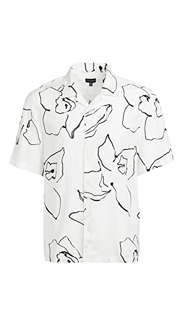 Club Monaco Abstract Floral Shirt