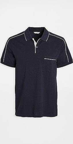 Club Monaco - Piped Shoulder Polo Shirt