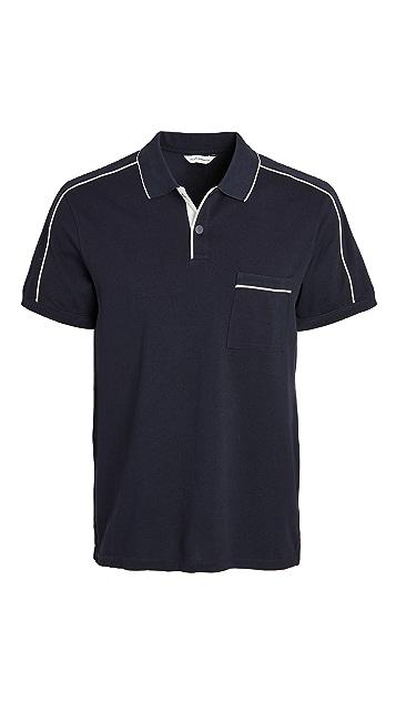 Club Monaco Piped Shoulder Polo Shirt