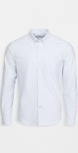 Club Monaco - Long Sleeve Stripe Oxford Shirt