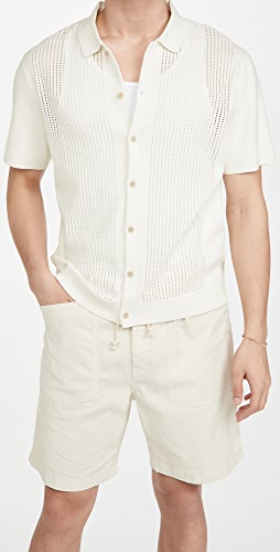 Club Monaco - Knit Mesh Button Down Shirt