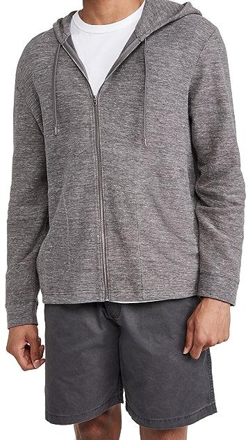 Club Monaco Zip Hoodie Sweatshirt