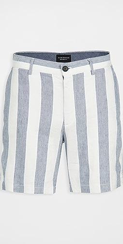 Club Monaco - Baxter Linen Stripe Shorts