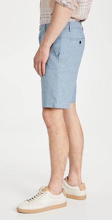 Club Monaco Maddox Linen Texture Shorts