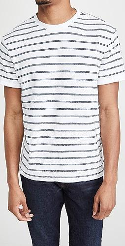 Club Monaco - Short Sleeve Textural Stripe Shirt