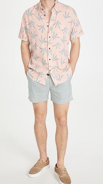 Club Monaco Jax Linen Texture Shorts