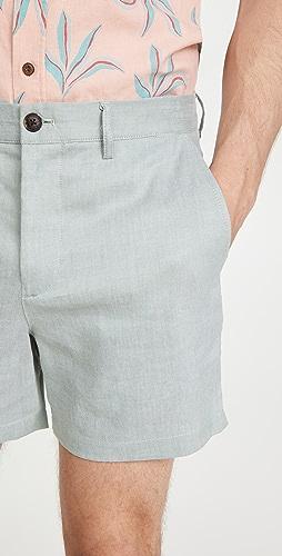 Club Monaco - Jax Linen Texture Shorts