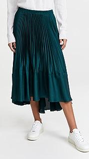 Club Monaco Pleated Flounce Skirt