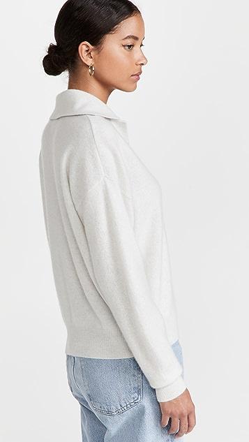 Club Monaco 强缩绒衣领羊绒毛衣