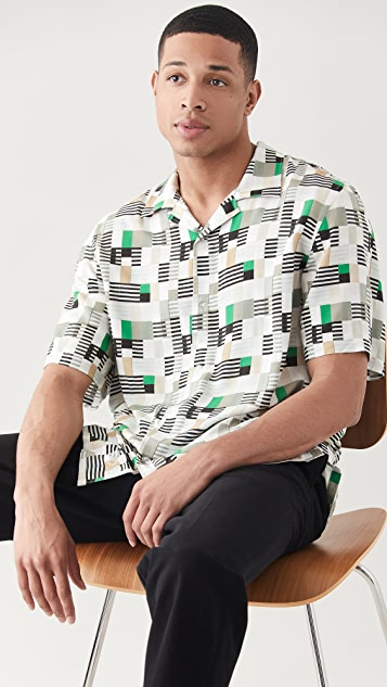 Club Monaco Geo Print Shirt