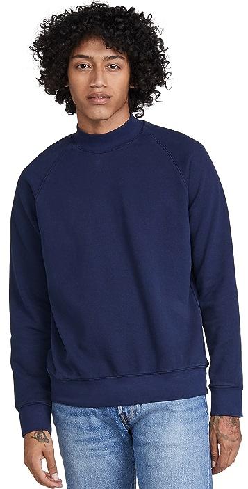Club Monaco Tea Dyed Mock Neck Sweatshirt