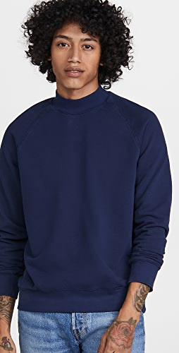 Club Monaco - Tea Dyed Mock Neck Sweatshirt